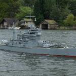 Battleship on the lake