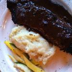 Steak mit Püree