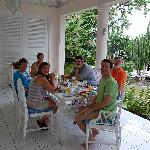 All meals served on the veranda