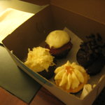 a box of the mini cupcakes