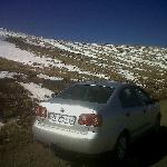 Driving to Afriski in Lesotho