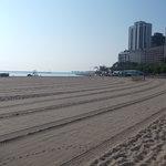 整地されたビーチの様子