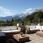 Die Seele baumeln lassen auf unserer Panorama-Terrasse mit Blick auf die Hohe Munde