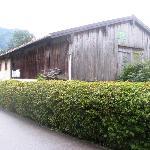Nearby barn