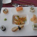 Starter in the Japanese restaurant