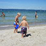 Our kids enjoying the beach