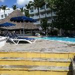 poolside by beach
