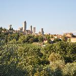 View of San Gimignano from behind the hotel