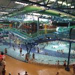 A spacious Water Park containing over 30 rides and slides