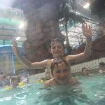 Friends have fun at Waterworld