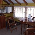 cozy kitchen & dining in upper suite