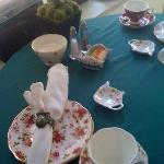 place setting at our table