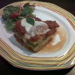 Delicious main course with polenta