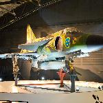 A SAAB 37 Viggen on display
