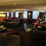 Bar area and breakfast restaurant.