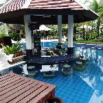 bar pool with nice surroundigs