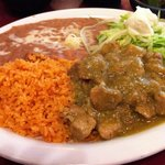 The chile verde.