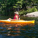 Our son kayaking