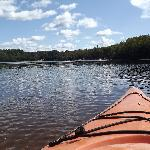 View from the kayak on Arrowhead Lake