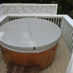 Hot tub for your enjoyment @ 102 degrees, perfect