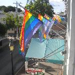 Rainbow flags at New Orleans House