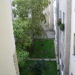 Window view to internal yard