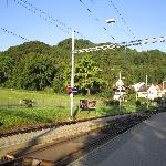 Treimli station in front of the hotel