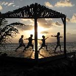 Yoga Deck overlooking ocean