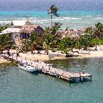 Arial photo of Long Caye, Glover's Reef and Off The Wall Dive Center