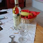 They provide a complimentary bottle of wine and fruits to welcome you!