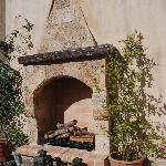 A lovely fireplace, although no use in summer!
