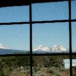 View from room of snow capped peaks