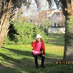 foto en el parque del hotel