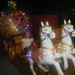 kids night time small fairground