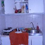 micro cuina senza un tavolo