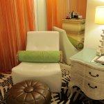 Sofa chair at corner of room