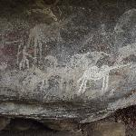 PAHI site, white rock art