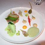 Six-course gourmet menu: our starter.