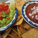 fresh guac + salsa + warm chips