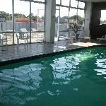 Pool - looking toward rooftop patio
