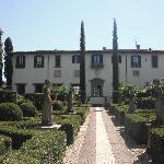 the villa and gardens