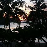 Beach at sunset from my veranda