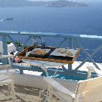 perfect breakfast at the balcony