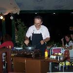 owner preparing a meal