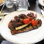 Lamb rump, chargrilled vegetables