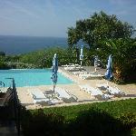 piscine vue de la chambre marine