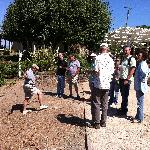 learning about maintaing a vineyard from a local
