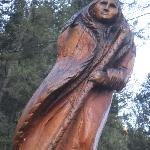 One of many outdoor sculptures
