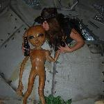 Sample of one of the photos taken in Area 51 of the Alien Zone ($3 admission for all day access)