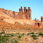 One of the many rock formations at Arches National Park